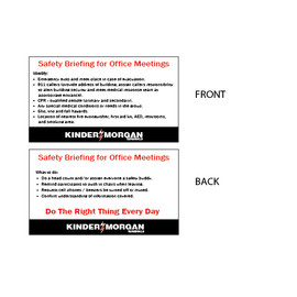 "Safety Briefing Wallet Card - 2"" x 3.5"""