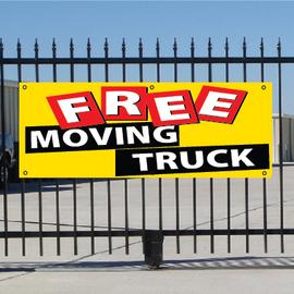 Free Moving Truck Banner - Festive