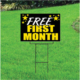 Free First Month Sign for Self Storage - Celebration