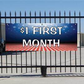 One Dollar First Month Banner - Patriotic