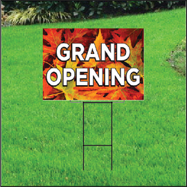 Grand Opening Self Storage Sign - Fall