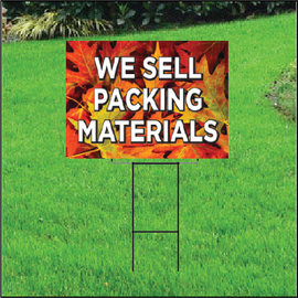 We Sell Packing Materials Self Storage Sign - Fall