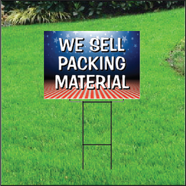 We Sell Packing Materials Self Storage Sign - Patriotic