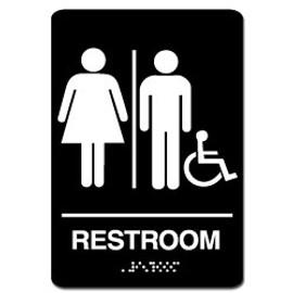 Men's/Women's Handicap ADA Restroom Sign