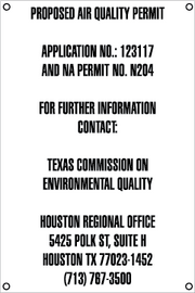 Air Quality Permit Sign - English