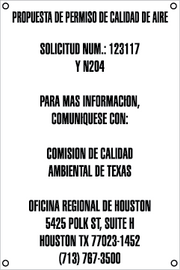Air Quality Permit Sign - Spanish