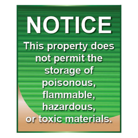 No Hazardous Materials Sign - Jenkins