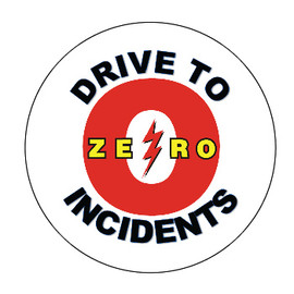 Drive to Zero Incidents Hard Hat Decals
