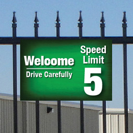 Welcome and Drive Carefully Sign