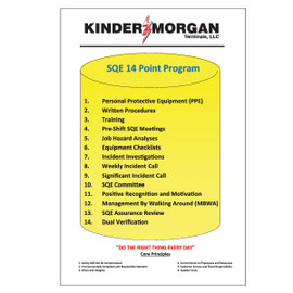 Kinder Morgan SQE 14pt. program sign