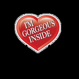 "Stock Heart Shaped ""I'm Gorgeous Inside"" Realtor Sign"