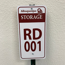 RV & Boat Storage Space Signs
