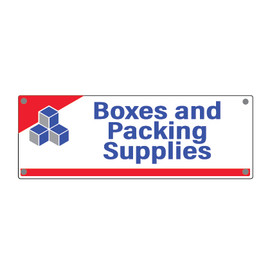 Devon Self Storage Boxes and Packing Supplies Sign