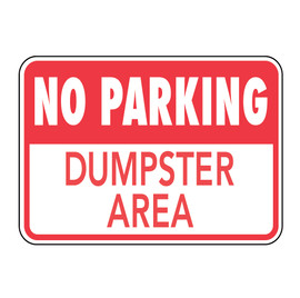 No Parking Dumpster Area