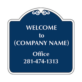 Office RV Park Sign blue and white