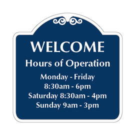 "RV Park Office Hours Sign 18"" x 18"""