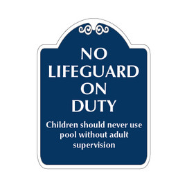 "No Lifeguard on Duty Sign 18"" x 24"""