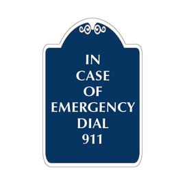 "Dial 911 Sign 12"" x 18"""