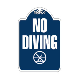 "No Diving Sign 12"" x 18"""