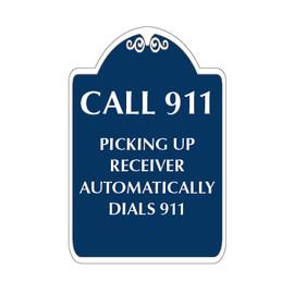 "Call 911 Sign 12"" x 18"""