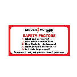 Safety Factors - Hard Hat Decal