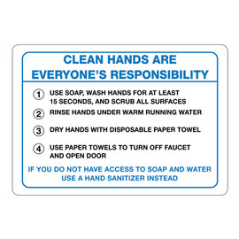 Clean Hands Signs