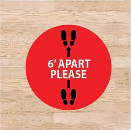 6 Feet Apart Floor Graphics