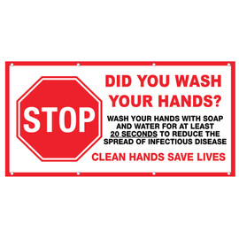 Did You Wash Your Hands Banner