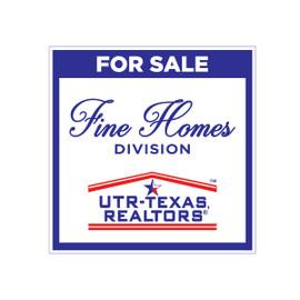 UTR Fine Homes Sign