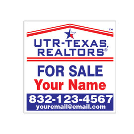 "UTR Real Estate Signs 24"" x 24"" Aluminum Composite"