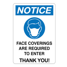 Face Coverings are Required to Enter Signs