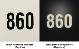RV Park Site Reflective Number Decals