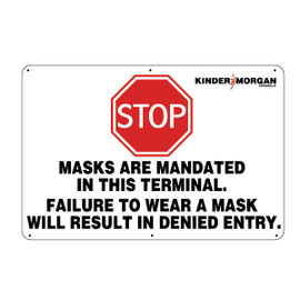Stop Masks are Mandated - 24 in x 36 in
