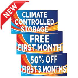 Blue Swoosh  Self Storage Banners