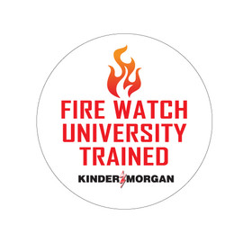 Fire Watch University Trained - Hard Hat Decal