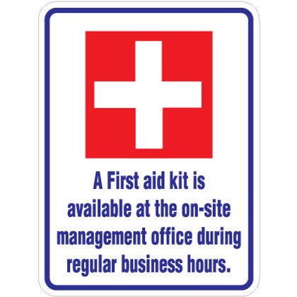"First Aid Kit Sign - 18"" x 24"""