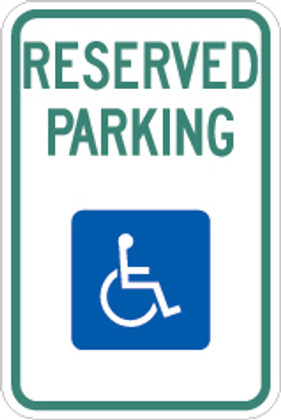 "Handicap Reserved Parking 12"" x 18"" Sign"