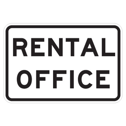 "Rental Office Sign - 9"" x 12"""