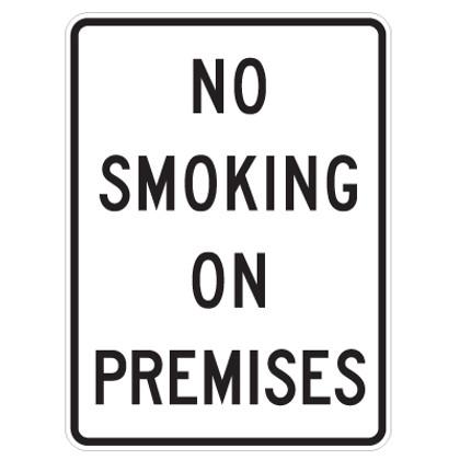 "No Smoking On Premises Sign - 18"" x 24"""