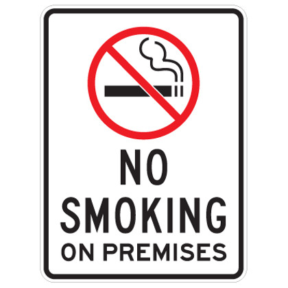 graphic regarding 30.07 Sign Printable named No Using tobacco upon Premises with Brand Signal - 18\