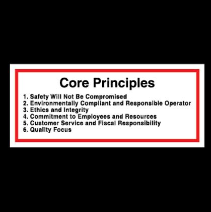 Core Principles - Hard Hat Decal