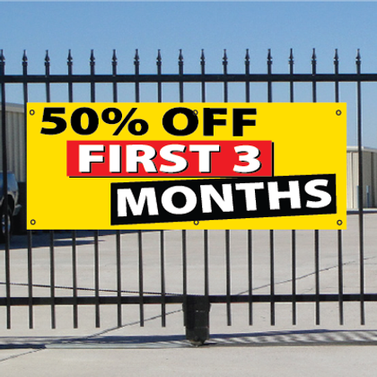 50 Percent Off First Three Months Banner - Festive