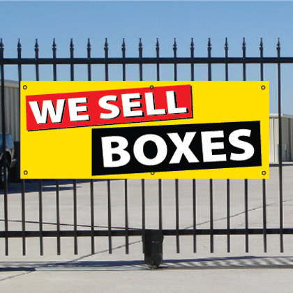 We Sell Boxes Banner - Festive