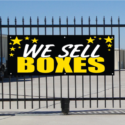 We Sell Boxes Banner - Celebration