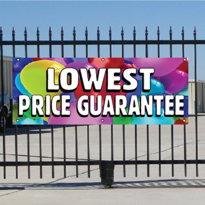 Lowest Price Guarantee Banner - Balloons
