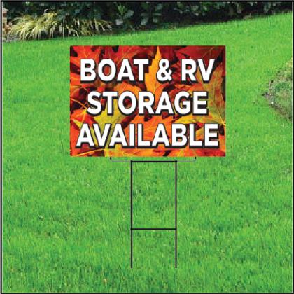Boat & RV Storage Self Storage Sign - Fall