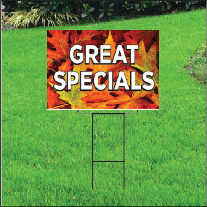 Great Specials Self Storage Sign - Fall
