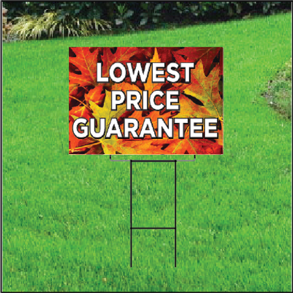 Lowest Price Guarantee Sign Self Storage - Fall