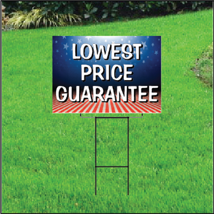 Lowest Price Guarantee Sign Self Storage - Patriotic