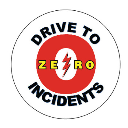 Drive to Zero Incidents Hard Hat Decals